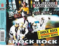 B.B. JEROME & THE BANG GANG - Shock Rock CDM 4TR Euro House 1991 BELGIUM RARE!