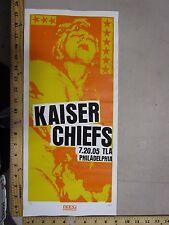 MB/2004 Rock Roll Concert Poster Kaiser Chiefs Print Mafia signed Artist Proof