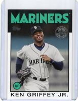2021 TOPPS  BASEBALL INSERT CARD # 86B-60- HOF KEN GRIFFEY JR - SEATTLE MARINERS