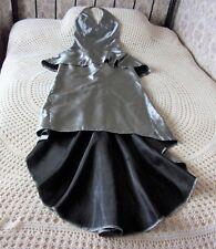 Long party prom dress by JESSICA McCLINTOCK USA Size 8 Grey sheen Mini train