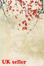 Blanc Oriental feuilles Toile de Fond Fond Vinyle Kids Photo Prop 5X7FT 150x220CM