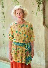 "Gudrun Sjoden ""Melissa"" cotton full buttoned tunic dress size XXL/3XL, pits 55"""