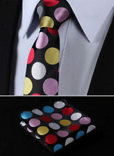 Cravatta da uomo nere in misto seta