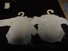 """New Mint w Tags Madame Alexander White Snaps on Shirt for 18"""" Baby Doll Clothes"""