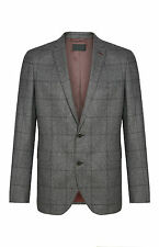 MENS ITALIAN SUIT GREY CHECK JACKET VINTAGE SLIM FIT GENUINE BNWT 42R PRIMARK