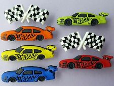 Dress It up Buttons Start Your Engines Racing Car Checkered Flag
