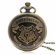Harry Potter The Hogwarts School Crest Pocket Watch Necklace Mens&womens