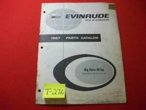 ORIGINAL 1967 EVINRUDE OUTBOARD PARTS CATALOG BIG TWIN 40 HP ELECTRIC START