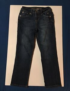 Girls Justice Blue Jeans Size 10R Simply Low Medium Blue Wash