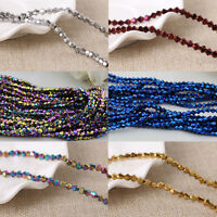 4/6/8/10MM Metallic Faceted Bicone Loose Spacer Beads Jewelry Findings Wholesale