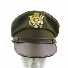 REPLICA WW2 US AIRR FORCE AAF OFFICER CAP VISOR HAT WITH GOLD EAGLE BADGE M
