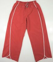 Athleta Womens Red Capri Pants Crop Pockets Polyester Swiming Athleisure Sz S