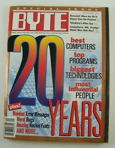Byte Magazine Sept 1995 ~ 20th Anniversary ~ Hacker Feats ~ Top 20 People