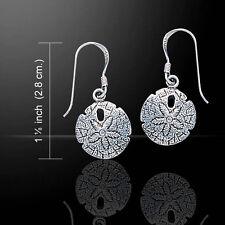 Sand Dollar .925 Sterling Silver Dangle Earrings by Peter Stone