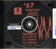 PONTIAC 1967 Bonneville, Catalina, GTO, Tempest, Fire Bird Shop & Body Manual CD