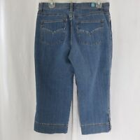 Fresh Produce Denim Blue Jeans Cropped Capris Stretch 8