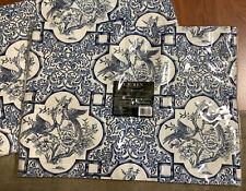 New listing New 8 Ralph Lauren Chinoserie Indigo Blue Rectangle Placemats 14x19�2 Packs Of 4