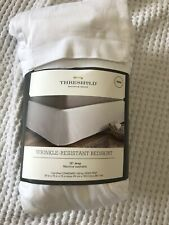 Threshold White Wrinkle Resistant Cotton Bed Skirt Twin Size