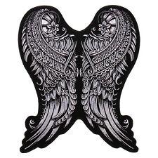 Ornate Angel Wings Ladies Jacket Vest 5 inch iron on Biker Patch