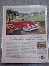 1954 CHEVROLET BEL AIR SPORT COUPE- VINTAGE AMERICANA ORIGINAL NEWSPAPER  AD.