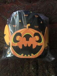 Loungefly Disney Pumpkin Stitch Mini Backpack Exclusive IN HAND NWT Halloween