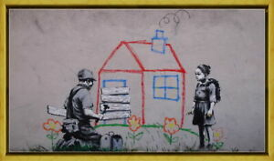 Framed Banksy Crayon for Closure Giclee Canvas Print Paintings Poster
