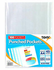 Plastic Punched Pocket Office Filing & Storage Supplies