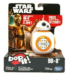 New Bop It! Star Wars BB-8 Edition Game + C-3PO Voices Handheld Game Hasbro 2016