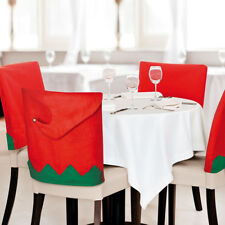 4 Pack Elf Elves Hat Dining Chair Cover Xmas Christmas Table Festive Decor Felt