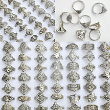 20Pcs/Lot Wholesale Rings Jewelry Costume Mixed Style Tibet Silver Vintage Rings