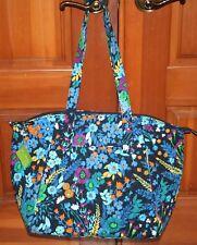 Vera Bradley TRAVEL TOTE MIDNIGHT BLUES shoulder bag weekender carry on  HTF!!