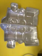 1974 WILTON 3D 2-pc TRAIN ALUMINUM CAKE BAKING MOLD 502-836 Retired Cho Choo