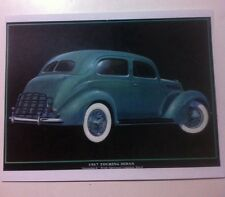 """1937 Ford Touring Sedan"" Illustration 8x10 Reprint Garage Decor"