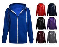 Mens Hoodie Womens Unisex American Fleece Hoody Hooded Sweat Zip Up Top XS To XL