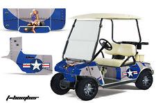 Graphics Kit Decal SxS Sticker Wrap For Club Car Golf Cart 1983-2014 TBOMBER BLU