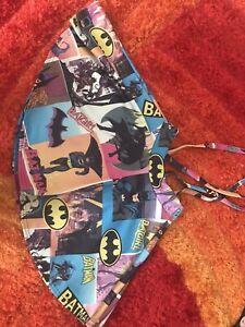 Batman Batgirl Flare Skirt With Braces DC Comic Punk Psychobilly Alternative