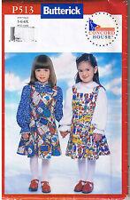 Girls Easy Jumper Blouse Top Butterick Sewing Pattern Sz 5 6 6X