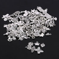 100pcs/lot Tibetan Silver Mix Charm Pendants Jewelry Craft Making DIY