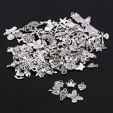 Wholesale 100pcs/lot Tibetan Silver Mix Charm Pendants Jewelry Craft Making DIY