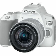 Canon EOS 250D / Rebel SL3 DSLR Camera with 18-55mm Lens (White)