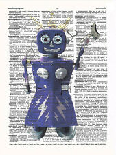 Art N Wordz FemBot Original Dictionary Sheet Wall/Desk Pop Art Print