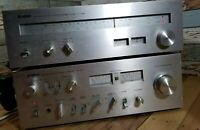 Yamaha Vintage CA-610 II Amplifier And CT-400 TUNER Made In Japan