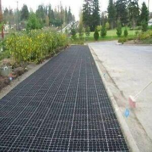 12 GRAVEL GRASS GRIDS PLASTIC PAVING DRIVE PATH CAR PARK SHED BASE - 3sqm