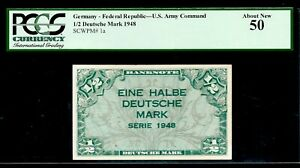 Germany 🇩🇪 1948 - 1/2 Deutsche Mark - U.S. Army Command 🇺🇸 - About UNC 50