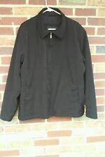 Axcess Men's Black Zipper Jacket Size L 100% Polyester