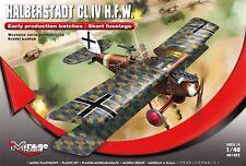 HALBERSTADT CL.IV H.F.W. – WWI GERMAN GROUND ATTACK AIRCRAFT, MIRAGE HOBBY 1/48