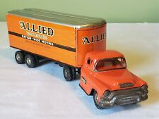 LineMar Marx Toys Japan Friction GMC Cab ALLIED VAN LINES TT TRUCK 50's V RARE