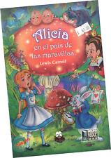 """LIBRO """"ALICIA EN EL PAÍS DE LAS MARAVILLAS"""" VERSIÓN A COLORES PARA NIÑOS"""