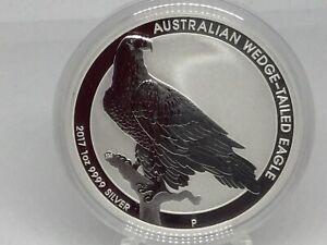 2017-P Australia 1 oz Wedge-Tailed Eagle Silver BU Coin- .9999 Silver