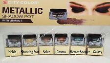 City Color Metallic Eye Shadow- Metallic Cream Eyeshadows *Full set of 6 Colors!